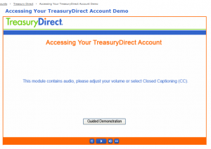 Accessing Your TreasuryDirect Account Demo Page