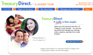 Picture of the TreasuryDirect Guided Tour page